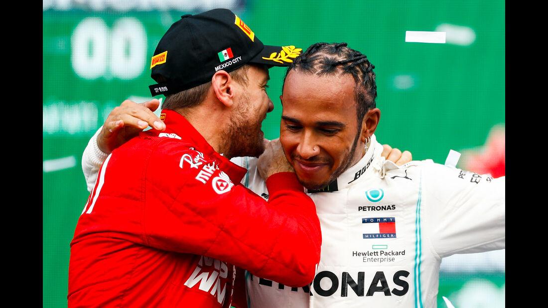 Sebastian Vettel & Lewis Hamilton - GP Mexiko 2019