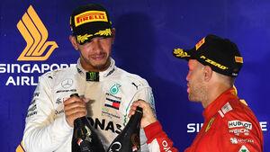 Sebastian Vettel & Lewis Hamilton - GP Singapur 2018