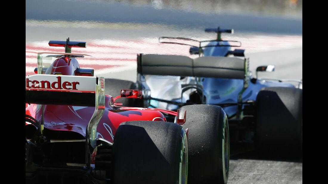 Sebastian Vettel & Lewis Hamilton - Mercedes & Ferrari - GP Spanien - Barcelona - 12. Mai 2017
