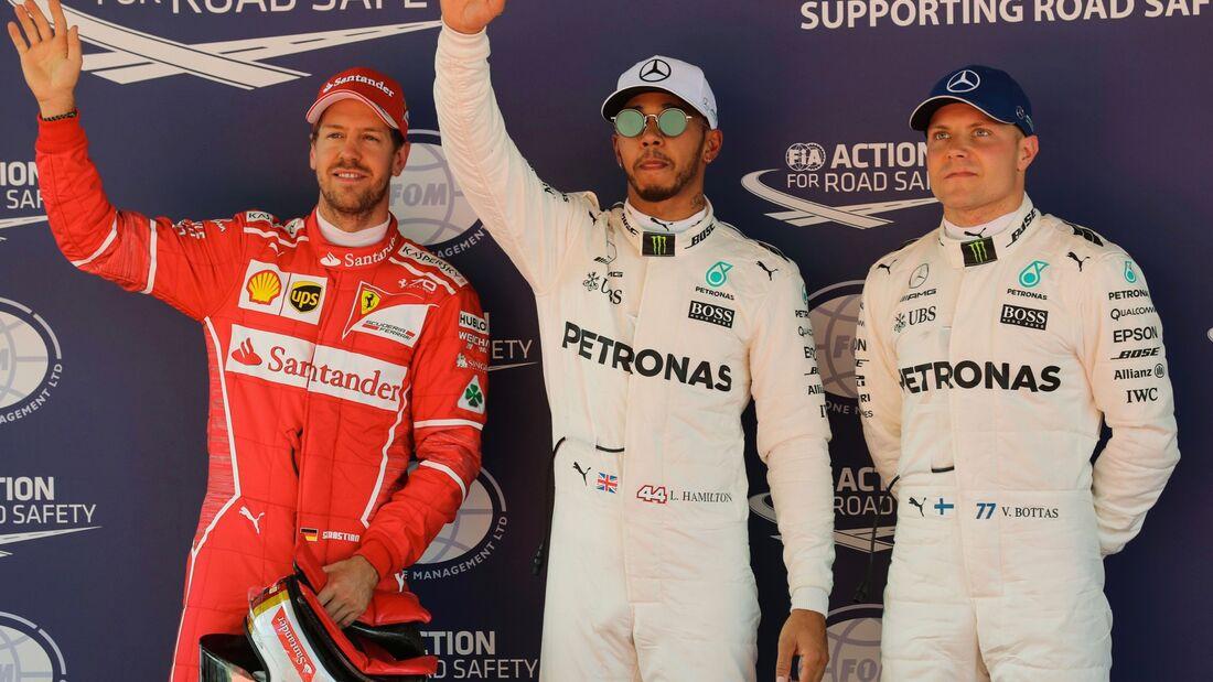 Sebastian Vettel - Lewis Hamilton - Valtteri Bottas - Formel 1 - GP Spanien - 13. Mai 2017