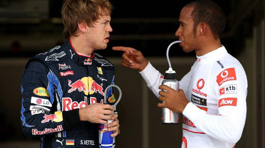 Sebastian Vettel + Lewis Hamilton
