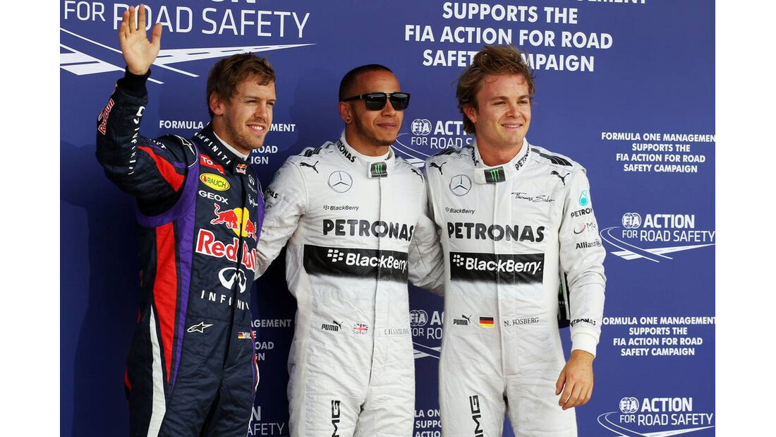 Sebastian Vettel - Lewis Hamitlon - Nico Rosberg - Formel 1 - GP England - 29. Juni 2013