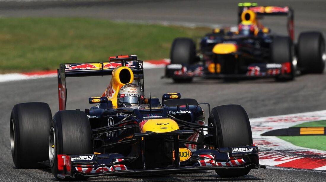 Sebastian Vettel Mark Webber - Formel 1 - GP Italien - 09. September 2012