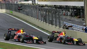 Sebastian Vettel & Mark Webber - GP Brasilien 2011