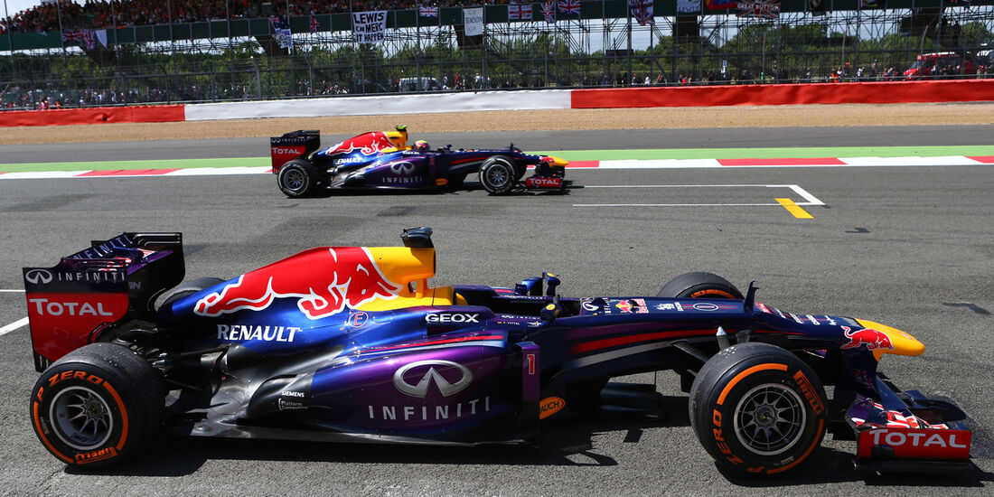 Sebastian Vettel - Mark Webber - GP England 2013