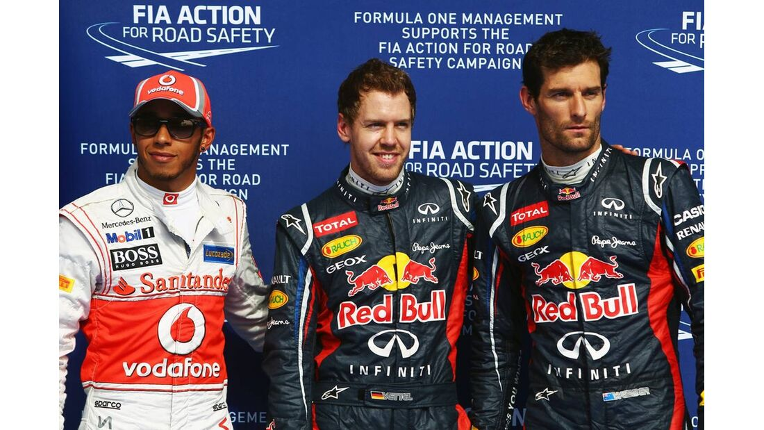 Sebastian Vettel - Mark Webber - Lewis Hamilton - Formel 1 - GP Bahrain - 21. April 2012