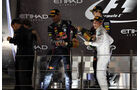 Sebastian Vettel - Mark Webber - Nico Rosberg - Formel 1 - GP Abu Dhabi - 03. November 2013