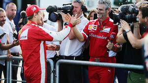Sebastian Vettel - Maurizio Arrivabene - Ferrari - GP Ungarn 2015