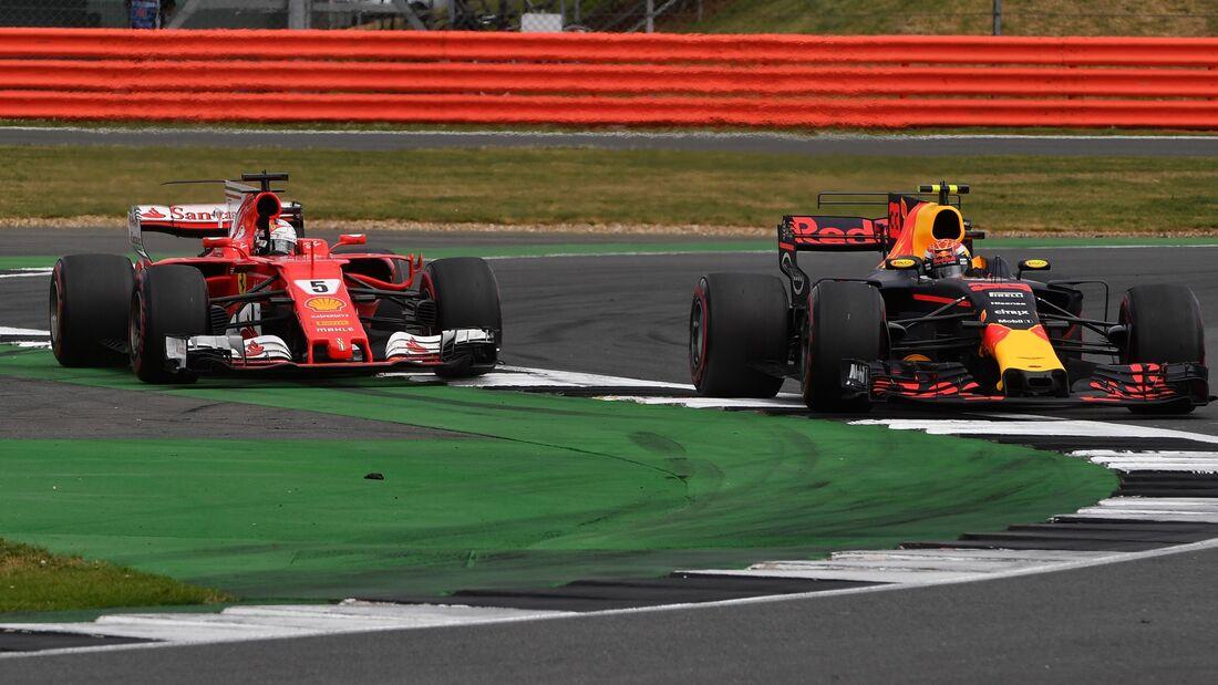 Sebastian Vettel - Max Verstappen - Formel 1 - GP England - 16. Juli 2017