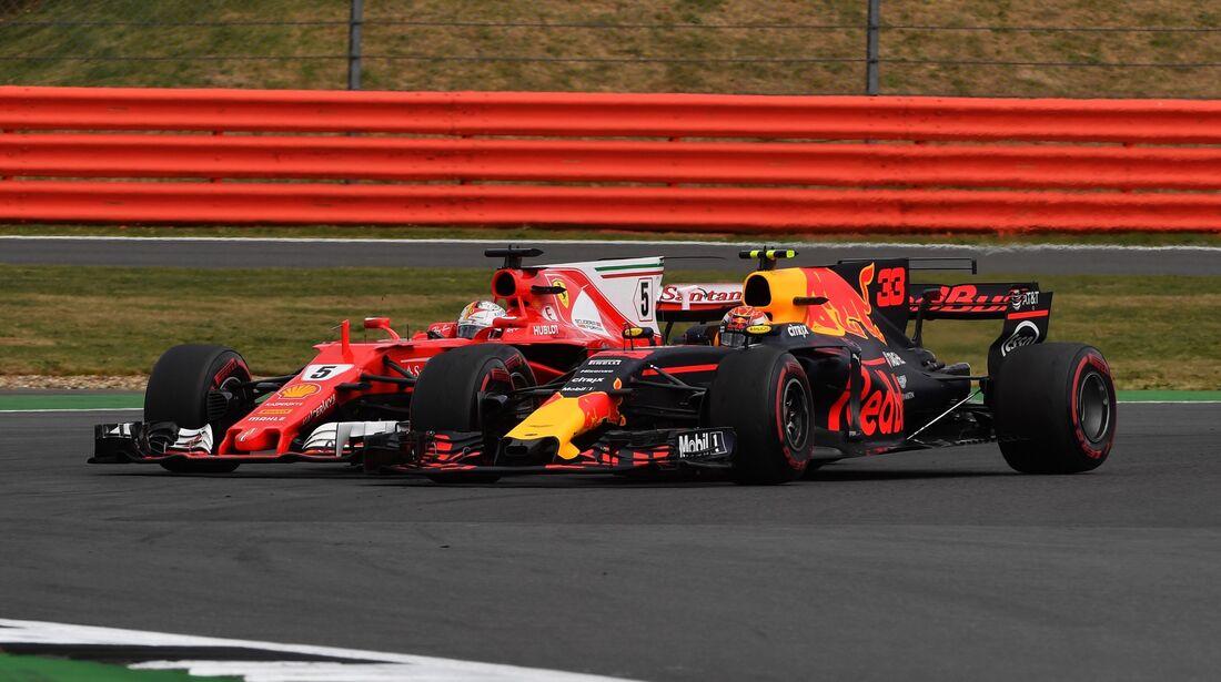 Sebastian Vettel - Max Verstappen - Formel 1 - GP England - 16. Juli 2018