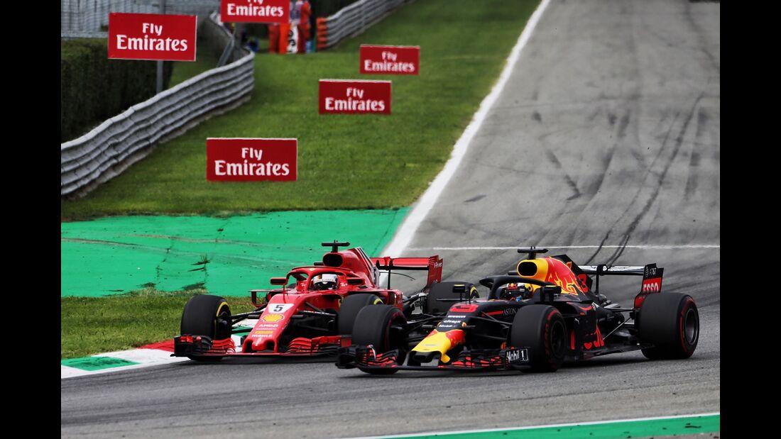 Sebastian Vettel - Max Verstappen - Formel 1 - GP Italien - 02. September 2018