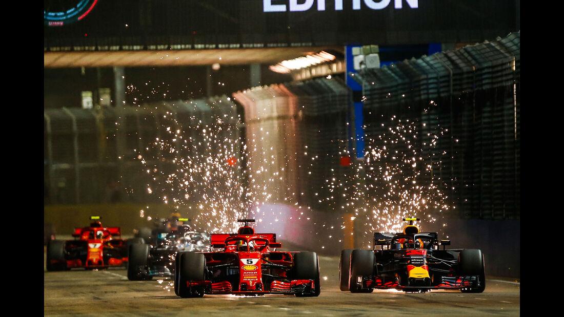 Sebastian Vettel - Max Verstappen - GP Singapur 2018