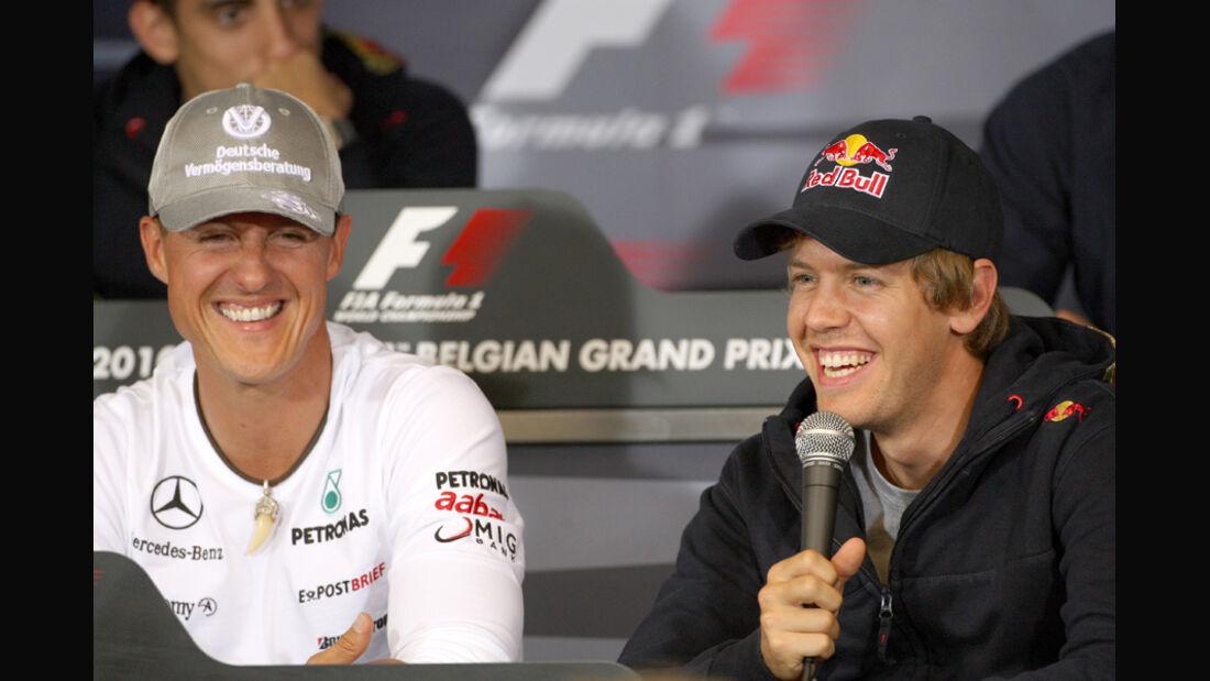 Sebastian Vettel & Michael Schumacher