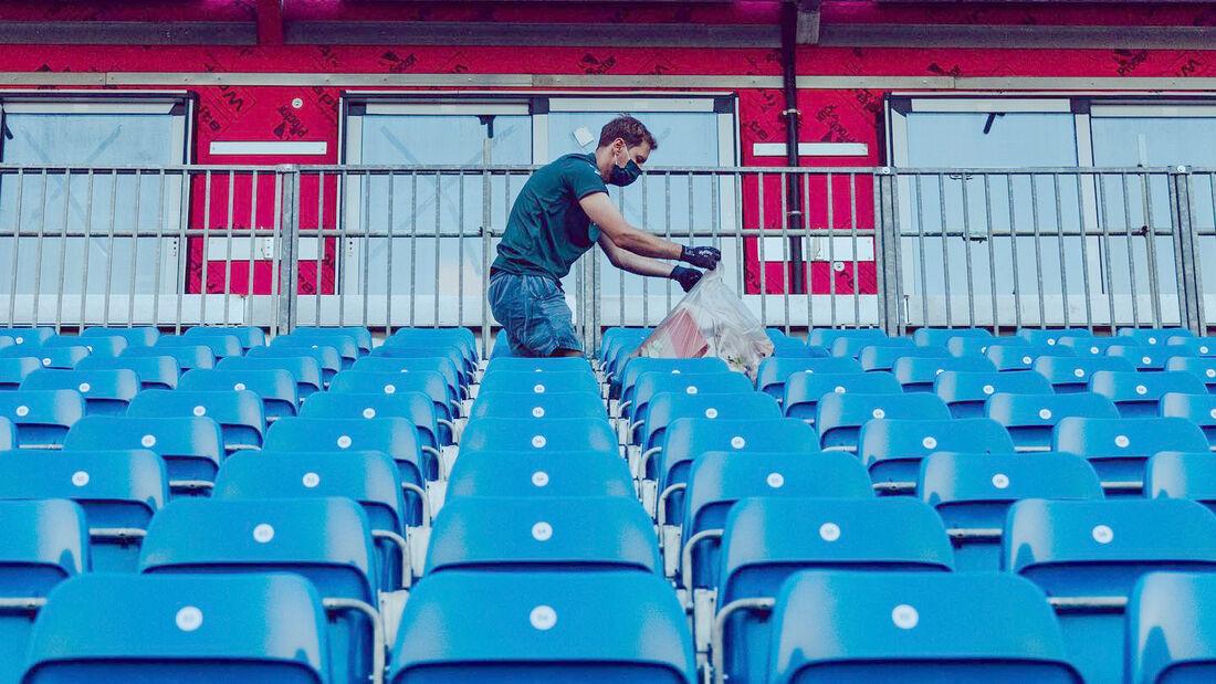 Sebastian Vettel - Müllsammeln / Recycling - GP England 2021