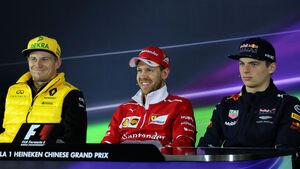 Sebastian Vettel - Nico Hülkenberg - Max Verstappen - GP China - Shanghai - 6.4.2017