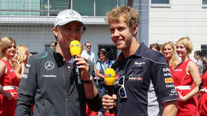 Sebastian Vettel & Nico Rosberg 2013