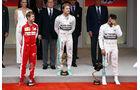 Sebastian Vettel - Nico Rosberg - Lewis Hamilton  - Formel 1 - GP Monaco - Sonntag - 24. Mai 2015