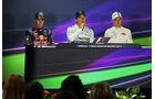 Sebastian Vettel - Nico Rosberg - Valtteri Bottas - Formel 1 - GP Ungarn - 26. Juli 2014