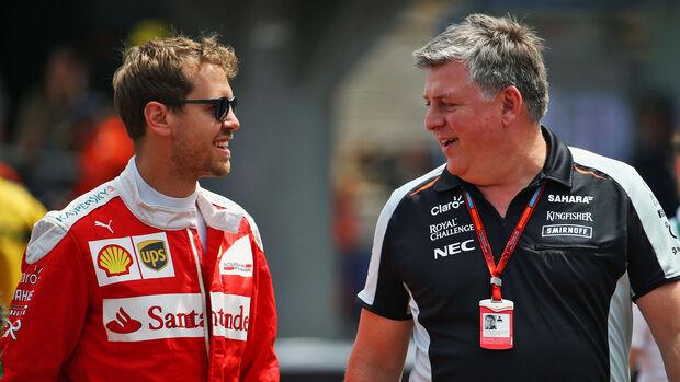 Sebastian Vettel - Otmar Szafnauer - GP Monaco 2016