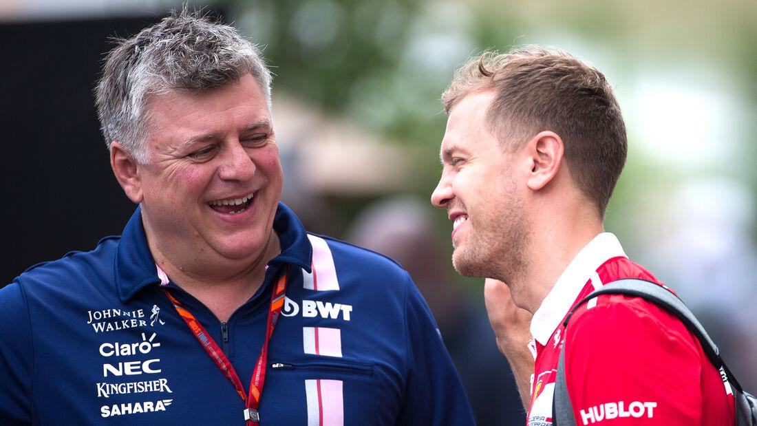 Sebastian Vettel - Otmar Szafnauer - GP USA 2017