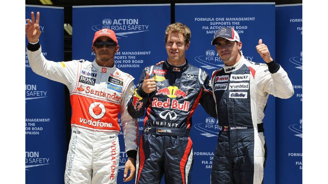 Sebastian Vettel - Pastor Maldonado - Lewis Hamilton  - Formel 1 - GP Europa - 23. Juni 2012