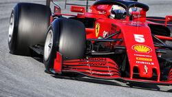 Sebastian Vettel - Pirelli - Unmarkierte Reifen - Barcelona Test 2020