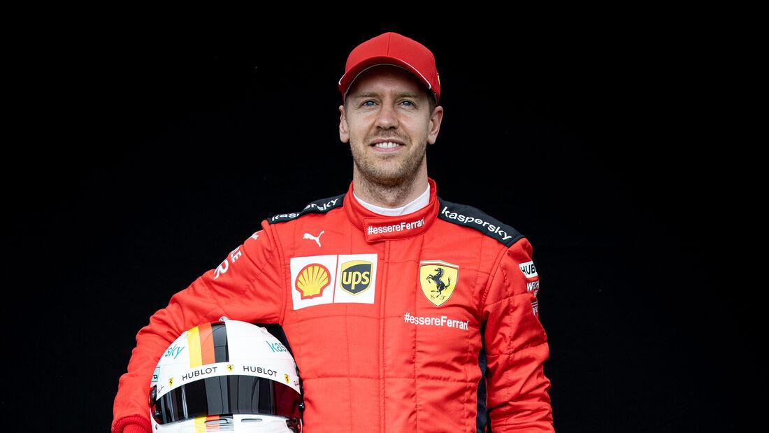 Sebastian Vettel - Porträt & Helm - Formel 1 - 2020