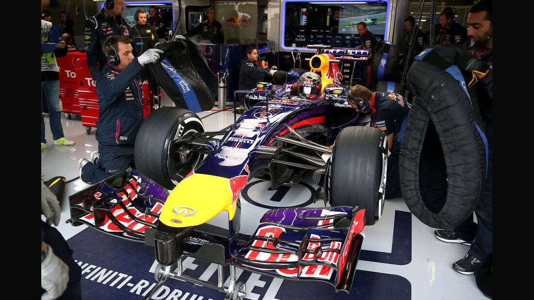 Sebastian Vettel - Red Bull - Formel 1 - GP Belgien - Spa-Francorchamps - 22. August 2014