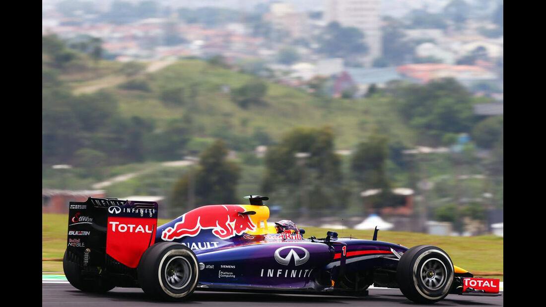 Sebastian Vettel - Red Bull - Formel 1 - GP Brasilien- 7. November 2014