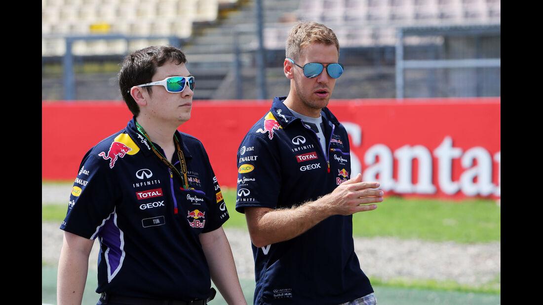 Sebastian Vettel - Red Bull - Formel 1 - GP Deutschland - Hockenheim - 17. Juli 2014