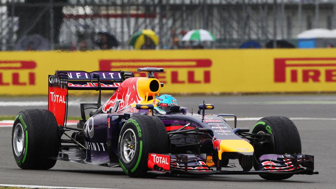 Sebastian Vettel - Red Bull - Formel 1 - GP England - Silverstone - 5. Juli 2014