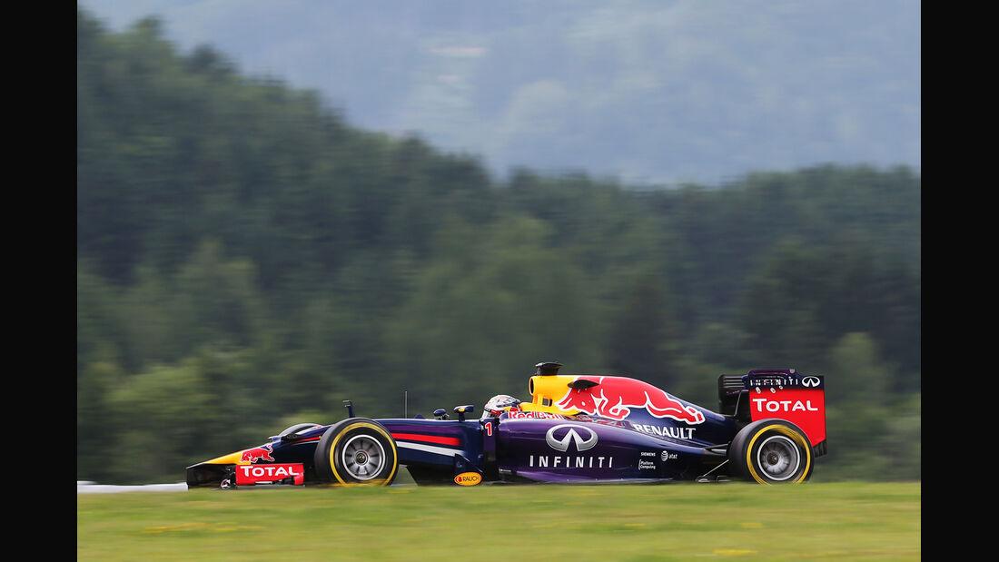 Sebastian Vettel - Red Bull - Formel 1 - GP Österreich - Spielberg - 20. Juni 2014