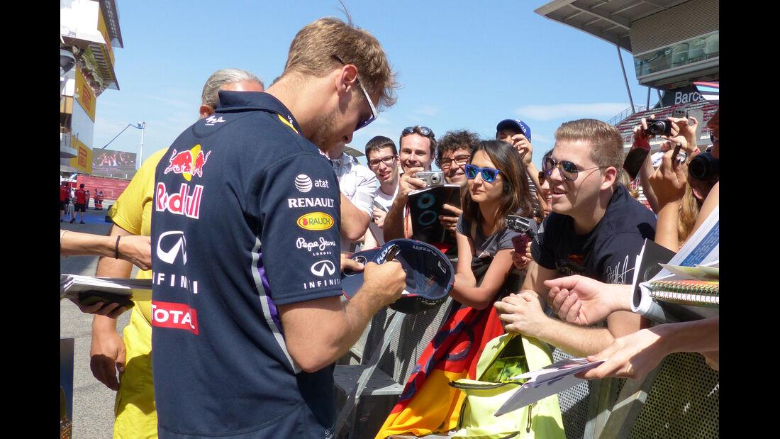 Sebastian Vettel - Red Bull - Formel 1 - GP Spanien - Barcelona - 8. Mai 2014