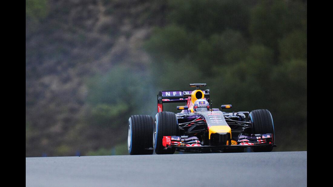 Sebastian Vettel - Red Bull - Formel 1 - Jerez - Test - 30. Januar 2014