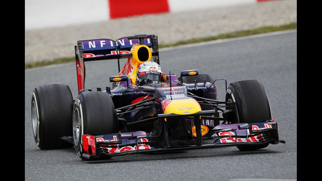 Sebastian Vettel, Red Bull, Formel 1-Test, Barcelona, 01. März 2013