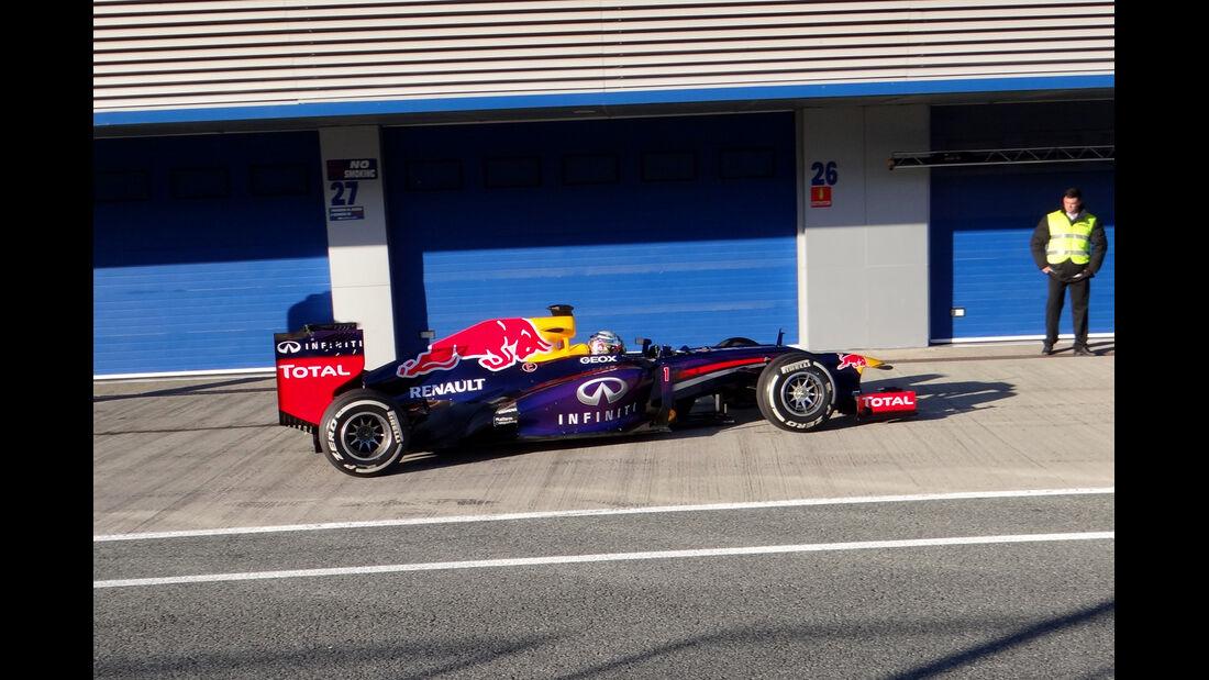 Sebastian Vettel - Red Bull - Formel 1 - Test - Jerez - 7. Februar 2013