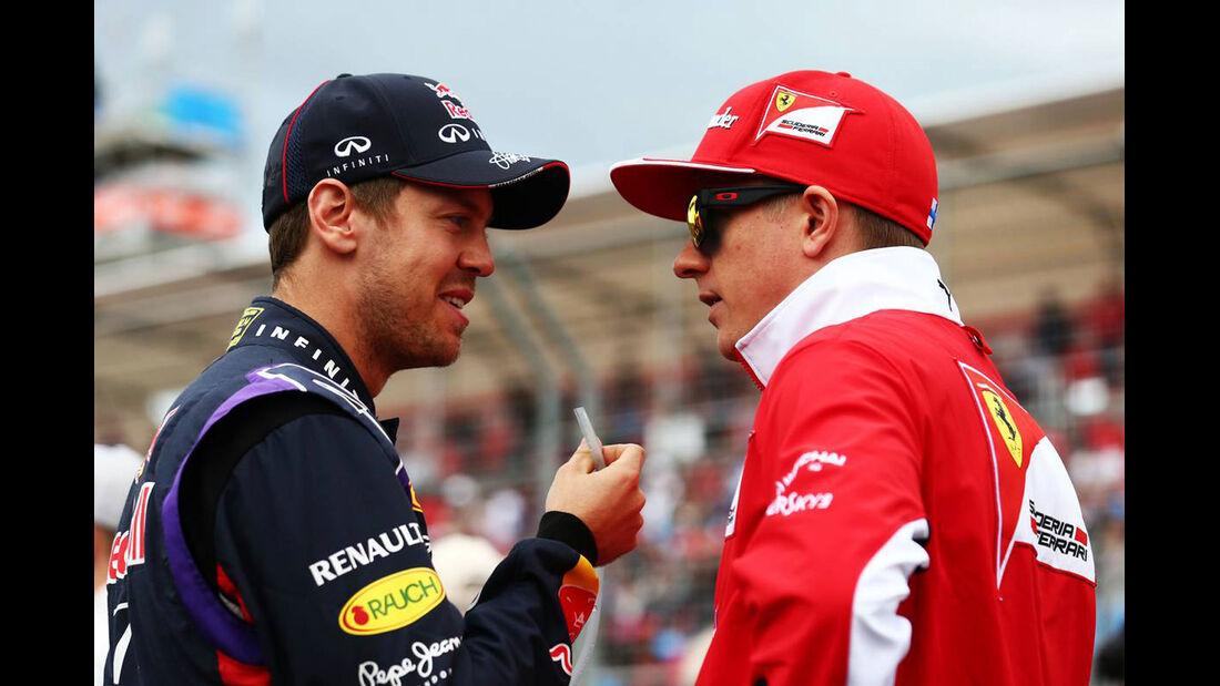 Sebastian Vettel - Red Bull - Kimi Räikkönen - Ferrari - Formel 1 - GP Australien - 16. März 2014
