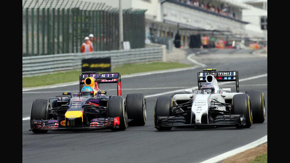 Sebastian Vettel  - Red Bull - Valtteri Bottas - Williams - Formel 1 - GP Ungarn - 27. Juli 2014