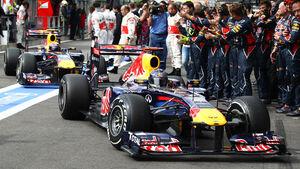 Sebastian Vettel Rennen GP Belgien 2011