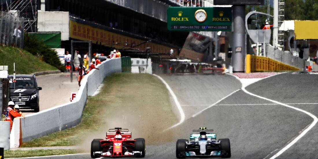 Sebastian Vettel - Valtteri Bottas - Formel 1 - GP Spanien - 14. Mai 2017
