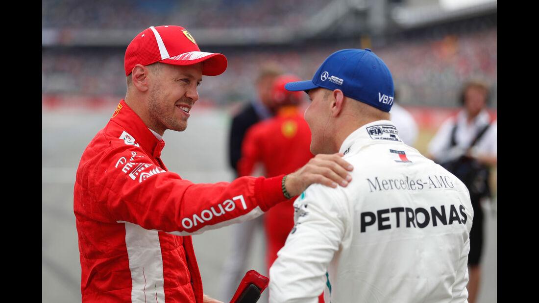 Sebastian Vettel - Valtteri Bottas - GP Deutschland 2018 - Hockenheim - Qualifying - Formel 1 - Samstag - 21.7.2018