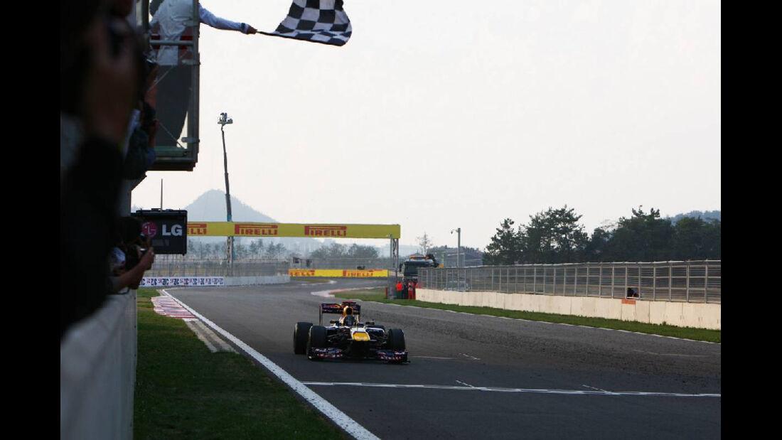 Sebastian Vettel Ziel - Formel 1 - GP Korea - 16. Oktober 2011
