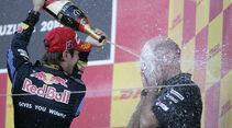 Sebastian Vettel mit Adrian Newey