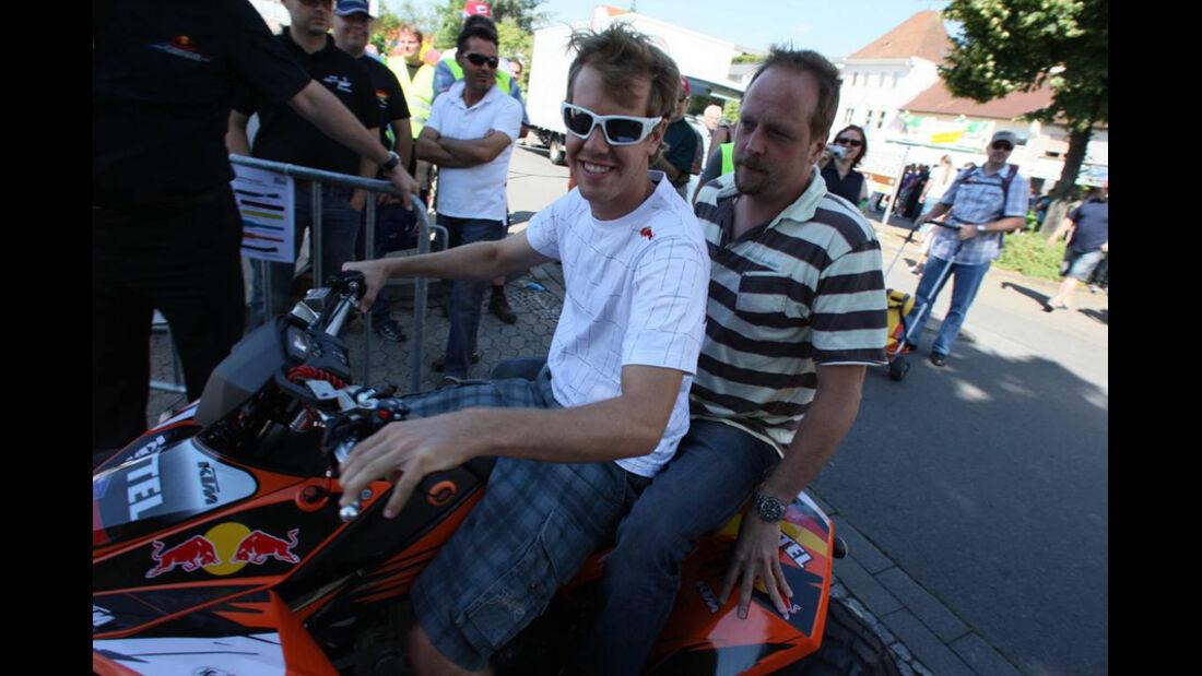 Sebastian Vettel und Smudo in Heppenheim