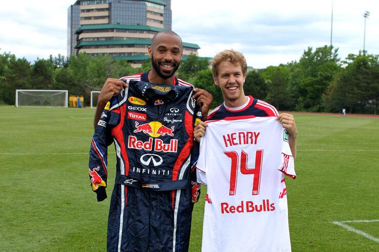 Sebastian Vettel und Thierry Henry
