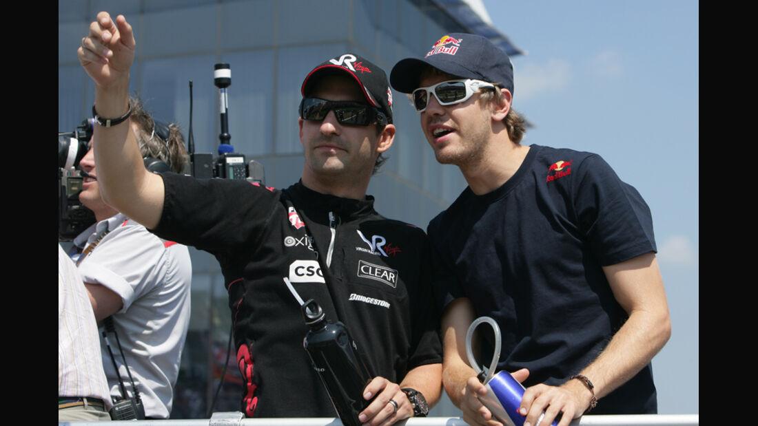 Sebastian Vettel und Timo Glock