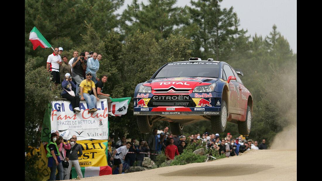 Sebastien Loeb, Rallye Sardinien 2008, Rallye-Sprünge