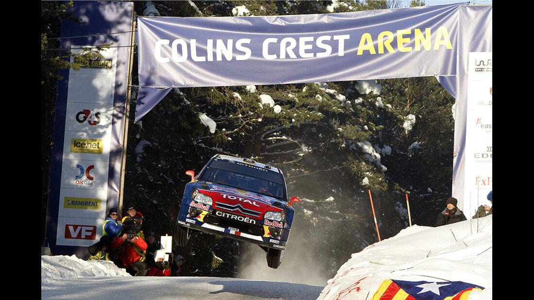 Sebastien Loeb, Rallye Schweden 2010, Rallye-Sprünge