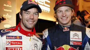 Sebastien Loeb und Kimi Räikkönen