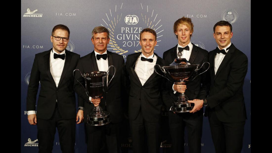Seidl - Enzinger - Bernhard - Hartley - Bamber - FIA Preisverleihung - Versailles